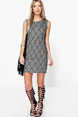 boohoo Sleeveless Boho Shift Dress