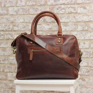 The Leather Store Riina Leather Top Handle Work Bag