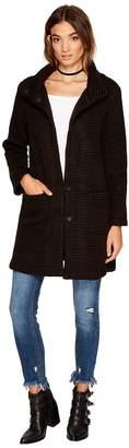 BB Dakota Kingston Ribbed Knit Coat Women's Clothing