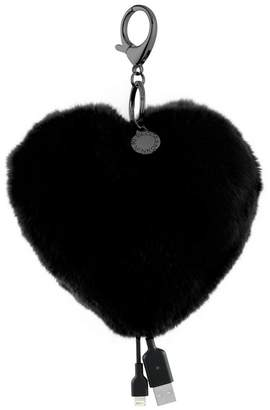 Rebecca Minkoff Heart Shaped Power Puff Keychain