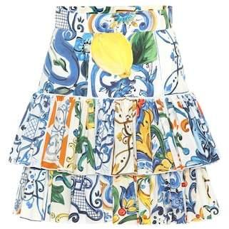 Dolce & Gabbana Majolica cotton miniskirt