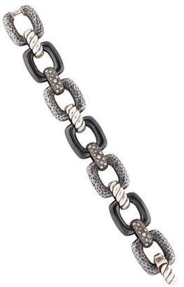 David Yurman Ceramic & Diamond Starlight Link Bracelet