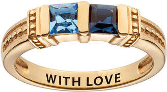 FINE JEWELRY Personalized Engravable Two Birthstone Ring