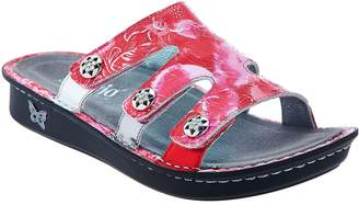 Alegria Leather Slip-on Sandals w/ Strap Detail - Venice