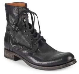 John Varvatos Six-O-Six Leather Combat Boots