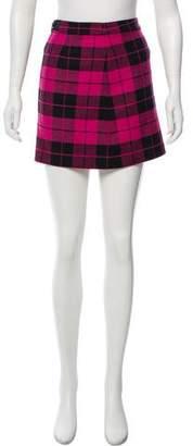 Alice + Olivia Plaid Mini Skirt