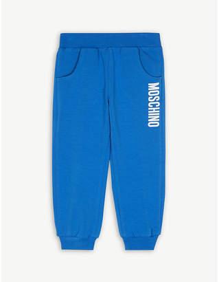 Moschino Logo cotton-blend jogging bottoms 6-36 months