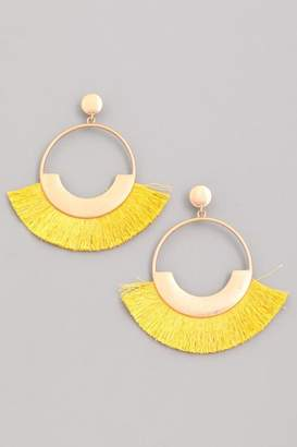 Compendium Mustard Fringe Earrings