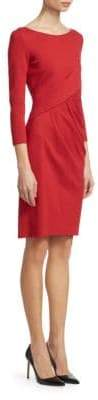 Emporio Armani Long Sleeve Ruched Fitted Dress