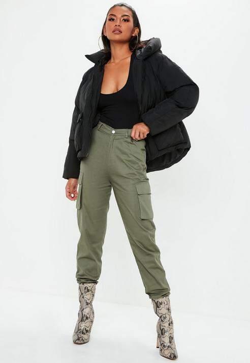Black Oversized Hooded Ultimate Puffer Jacket, Black