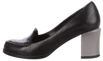 Fendi Leather Loafer Pumps