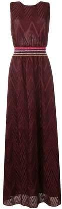 M Missoni chevron knit maxi dress