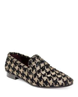 Bougeotte Tweed Slip-On Penny Loafer