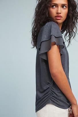 Eri + Ali Linen Chiffon-Sleeve Tee $58 thestylecure.com