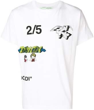 Off-White multi-print T-shirt