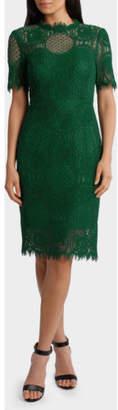 Jayson Brunsdon NEW Black Label Cap Sleeve Green Lace Dress