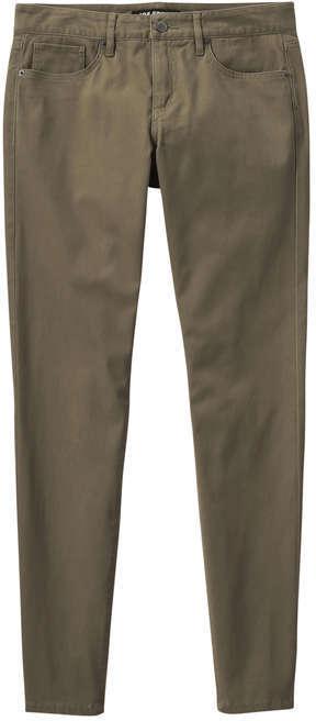 Joe Fresh Women's Slim Fit Sateen Pant, Khaki Green (Size 24)