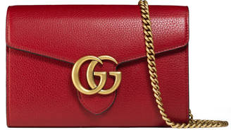 GG Marmont leather mini chain bag $1,400 thestylecure.com