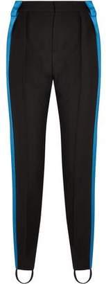 Thierry Mugler Satin-Trimmed Wool Slim-Leg Stirrup Pants
