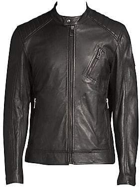 Belstaff Men's Lambskin Leather Racer Jacket