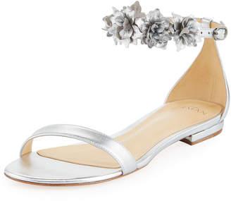 Alexandre Birman Ditsy Flower Metallic Sandal