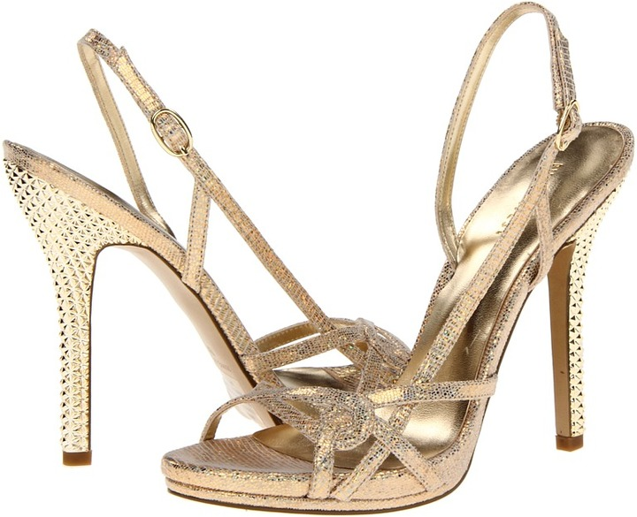 Nine West Whilia (Gold Leather) - Footwear