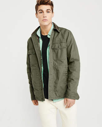Abercrombie & Fitch Corduroy Collar Shirt Jacket