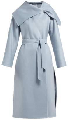 Max Mara Gail Wrap Coat - Womens - Light Blue