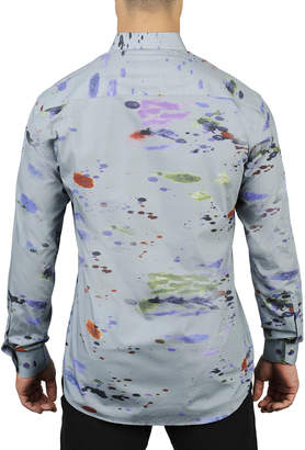 Maceoo Shaped-Fit Luxor Splash Gray Sport Shirt