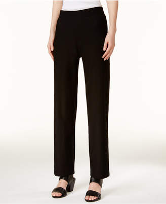 Eileen Fisher System Washable Crepe Straight-Leg Pants, Regular & Petite