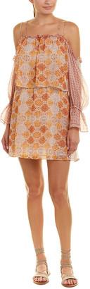 BCBGMAXAZRIA Dimitri Silk-Blend Shift Dress