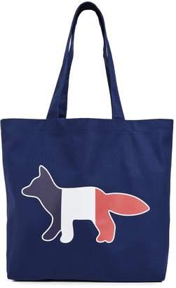 MAISON KITSUNÉ Tricolor Fox Tote