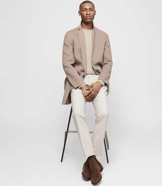 Reiss SAMUEL Wool-blend overcoat Camel