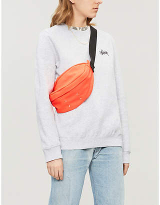 Stussy Logo cotton-blend jersey sweatshirt