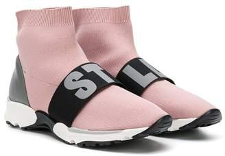 Stella McCartney TEEN slip-on logo sneakers