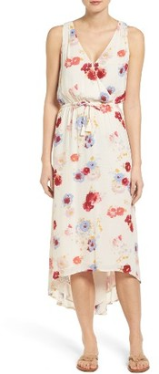 Women's Lucky Brand Painted Floral High/low Maxi Dress $129 thestylecure.com