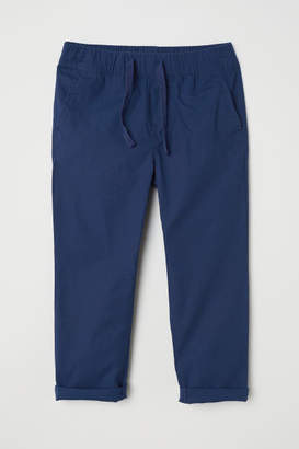 H&M Cotton Pull-on Pants - Blue