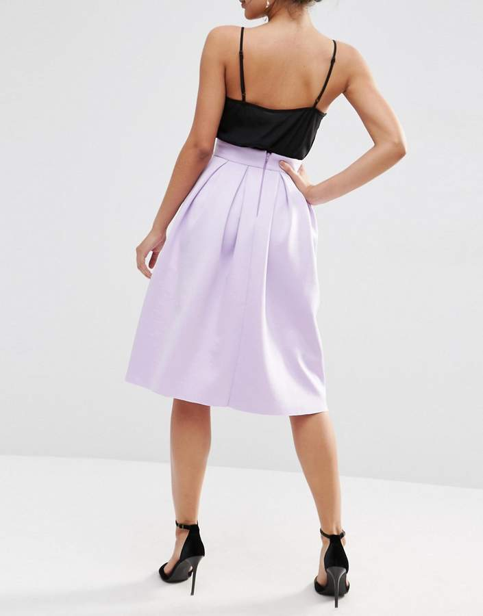 Asos Midi Pleated Prom Skirt in Scuba