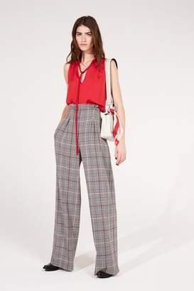 Amanda Wakeley Prince of Wales Check Wide Leg Trousers