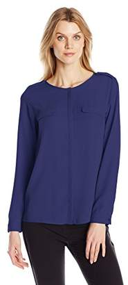 Dockers Women's Crepe Pocket Shirt $19.15 thestylecure.com