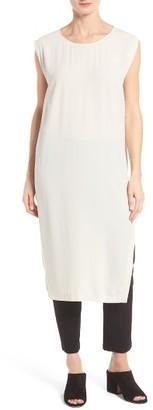 Women's Eileen Fisher Silk Georgette Tunic $348 thestylecure.com