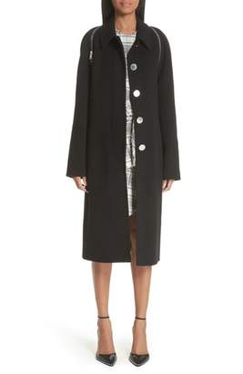 Alexander Wang Zip Detail Wool Coat