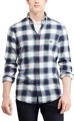 Chaps Men's Regular-Fit Performance Flannel Button-Down Shirt