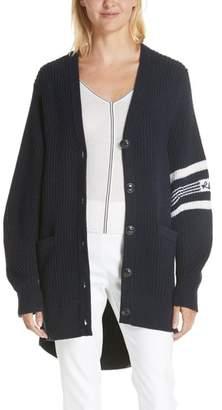 Rag & Bone Addams Varsity Stripe Merino Wool Cardigan
