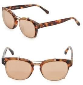 Linda Farrow Luxe Tortoiseshell 49MM Professor Sunglasses