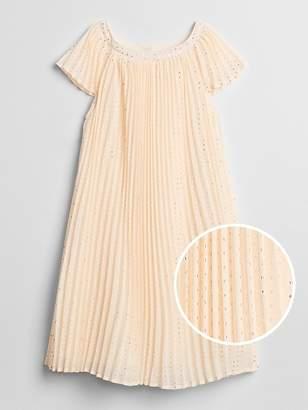 Gap Metallic Dot Pleated Dress