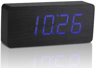 GINGKO Slab Click Clock - Black/Blue LED