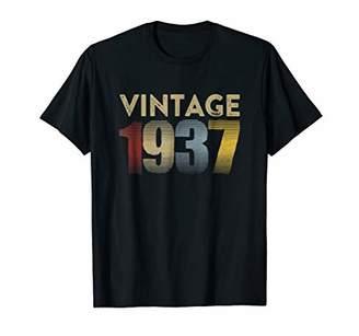 Retro Vintage Distressed 1937 T-Shirt 82nd Birthday Gift Tee