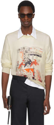 Prada Off-White Cashmere Graphic Sweater