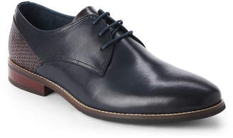 Hart Schaffner Marx Navy & Brown Seattle Leather Derby Shoes